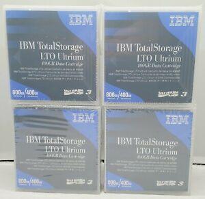 Lot of 4 IBM LTO Ultrium-3 400GB 24R1922 Data Cartridges Sealed