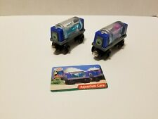 Thomas & Friends Wooden Railway AQUARIUM CARS w/ Card Train Engine Car EUC