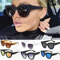 Cat Eye Sunglasses Ladies Womens Retro Vintage Shades Oversized Designer Large