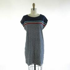8 - Boden Navy Multicolor Striped Knit Scoop Neck Cap Sleeve Mini Dress 0000MB