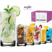 Acrylic Highball  Drinking Glasses Cups Plastic Tumblers 16 OZ Set of 6 BPA Free