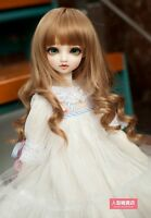 BJD Doll 1/3 9-10 Wig Long wave Hair Straight Bangs High Temperature Fiber Brown