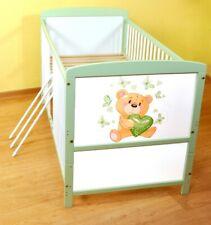 Babybett  Kinderbett - Juniorbett umbaubar 140x70 Weiß -Grau nr 25