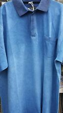 BLUE ENZYME WASH POLO SHIRT FROM KAM 2XL3XL4XL5XL6XL7XL8XL