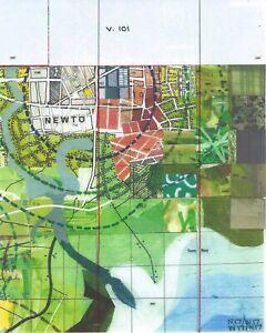 Jerry's Map Original Panel N17/W17 Gen VII Collectible Process Map Art!