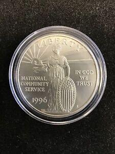 1996 National Community Service Commemorative Coin Unc. Silver Dollar No Box/co