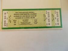 1995 Texas A&M Aggie Baseball Classic New Mexico Illinois Alabama Ticket  SK3