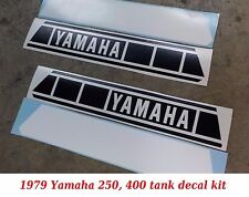 1979 YAMAHA YZ 250 400 tank decal install kit, NEW 1 pr, DIY, Black + White