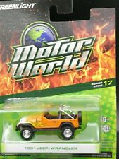 1:64 Greenlight 1991 Jeep Wrangler Diecast Car Model Toy