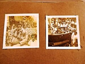 VINTAGE CAR BLACK&WHITE PHOTO INDIAN BRIDEGROOM WEDDING CEREMONY IMAGE COLLECTIB