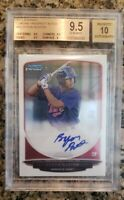 2013 Bowman Chrome Byron Buxton RC Rookie Card Gem Mint BGS 9.5 Auto 10 (8283)