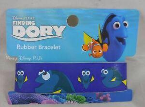 "New Disney Finding Dory Fluent In Whale Rubber Bracelet 1"" Wristband"