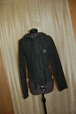 Massimo Gray Wool Blend Hooded  Jacket Cardigan Sweater Size M made in Italy