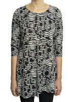 Joseph Ribkoff Blk/Grey Semi-Sheer Patchwork Textured Tunic US8 UK10 NEW 181812