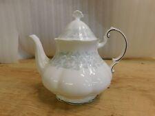"Paragon China ""Melanie"" Floral Green Scrolls Tea Pot Teapot"