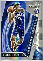 2019-20 Panini Matisse Thybulle Silver Prizm Instant Impact Rookie Card Rc 76ers