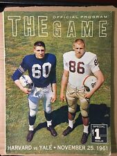 1961 Yale vs Harvard Official Football Program GOOD Condition