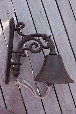 Nostalgie Kleine Türglocke Katze Welcome Glocke Gußeisen Haus Garten 24x19cm NEU