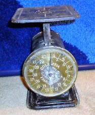 Antique MARSHALL WELLS Hardware DULUTH MN Columbia Scale with BRASS Face! COOL!