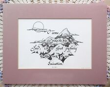 Psalm 95:1 Matted Print O Come Let Us Sing To The Lord Mountains Lane Walker New