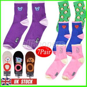 7x KPOP Bangtan Boys Socks J-HOPE Cotton Mid Tube Socks TATA SHOOKY Sock UK
