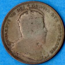 Canada 1907 25 Cents Twenty Five Cent Silver Coin - G/VG