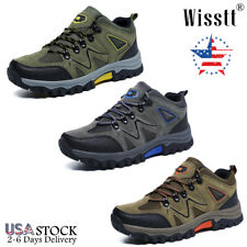 Mens Walking Trekking Trails Trail Boots Work Sneakers Outdoor Wide Hiking Shoes