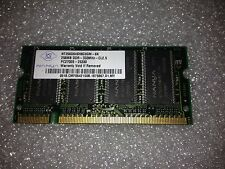 Memoria SoDimm DDR Nanya NT256D64SH8C0GM-6K 256MB PC2700 333MHz CL2.5 200 Pin