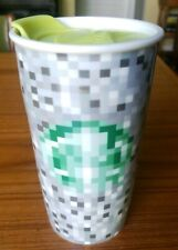 Starbucks 2012 Minecraft RODARTE Ceramic Travel Tumbler Mug 12 oz with lid
