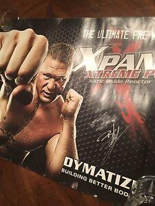 Brock Lesnar Signed Poster B3 Ufc Pride Rizin Gloves