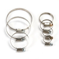 10pcs Stainless Steel Hose Clips Pipe Clamps Hose Clamp Up To 80mm Diameter