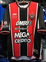 TBS Chacarita Jrs Away Red Black White 2008 Soccer Jersey Size L Men's Only