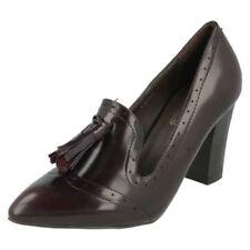 Scarpe da donna rossi Spot On con tacco alto (8-11 cm)