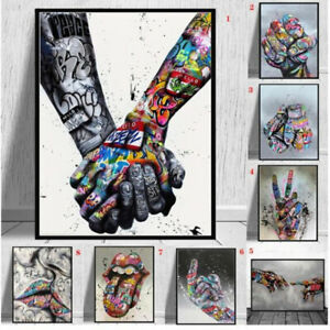 Abstract Street Graffiti Art Canvas Painting Prints And Posters Wall Art Decor