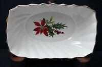 Vintage Royal Adderley Fine Bone China Small Nut Dish - Poinsettia. England