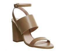 Block OFFICE 100% Leather Upper Heels for Women