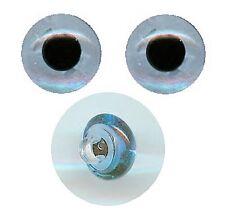 2 Tieraugen mit Öse zum Annähen hellblau 6 mm
