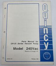 Quincy Vacuum Pump Parts Manual Model 240 Vac Qr 25 Series Book Catalog 1152x