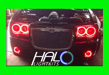 2005-2010 CHRYSLER 300C RED PLASMA HEADLIGHT+FOG HALO KIT 6 RINGS by ORACLE