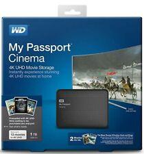 WD My Passport Cinema WDBZKS001 4K UHD 1TB Movie Storage BRAND NEW!