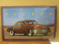 vintage 1988 Tucker car poster garage man cave  4976