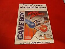 Marble Madness Nintendo Game Boy Vidpro Promotional Display Card ONLY