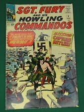 MARVEL COMICS GROUP SGT. FURY AND HIS HOWLING COMMANDOS #9 9/1964 - SWEET COPY!!