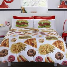Munchies Food Burger Chips Cupcake Donut Ice Cream Duvet Set Quilt Cover Bedding