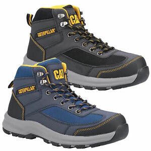 Mens Caterpillar Elmore Safety Hiker Steel Toe/Midsole Work Boots Sizes 7 to 13