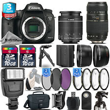 Canon EOS 7D Mark II Camera + 18-55mm + 70-300mm + EXT BAT + 32GB + 3yr Warranty