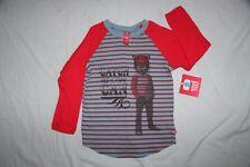 ORIGINAL SMALL PAUL Tee Shirt ML  rouge et bleu imprimé 5 ans neuf