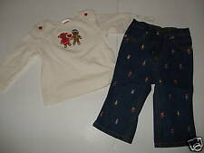Gymboree Sugar & Spice Gingerbread Top Jeans 12-18 EUC
