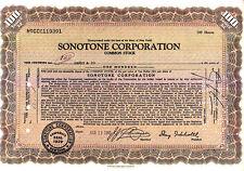 Sonotone Corporation NY 1965 Stock Certificate