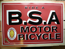 Montar a Bsa Motor Bicicleta Retro Estilo Clásico Taller Showroom pegatina adhesiva